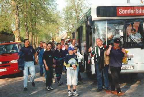 1996 Busfahrt zum Pokalendspiel nach Finow